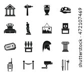 museum icons set in simple... | Shutterstock .eps vector #472107469