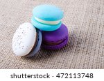 colored macarons   Shutterstock . vector #472113748