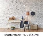 brick wall horizontal banner... | Shutterstock . vector #472116298