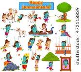 krishna on janmashtami... | Shutterstock .eps vector #472118839