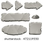 vector stone design elements... | Shutterstock .eps vector #472119550