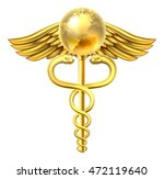 a caduceus globe medical symbol ... | Shutterstock . vector #472119640