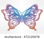 beautiful butterfly wings with... | Shutterstock .eps vector #472120078