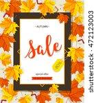 autumn sale vintage vector... | Shutterstock .eps vector #472123003