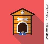 Dog House Flay Icon Vector...