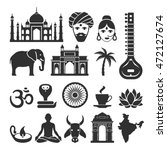 indian vector icons. travel... | Shutterstock .eps vector #472127674