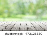 empty wooden table with party... | Shutterstock . vector #472128880