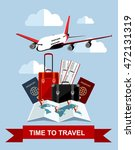 travel and tourism concept. air ... | Shutterstock .eps vector #472131319