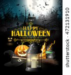 halloween greeting card with... | Shutterstock .eps vector #472131910