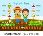 vegetable garden farm  farmers... | Shutterstock .eps vector #472141348