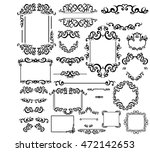 vintage frames  dividers ... | Shutterstock .eps vector #472142653