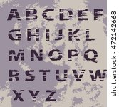 shabby full alphabet on an old  ... | Shutterstock .eps vector #472142668