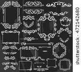 vintage frames  dividers ... | Shutterstock .eps vector #472142680