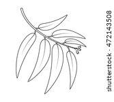eucalyptus vector icon in line... | Shutterstock .eps vector #472143508