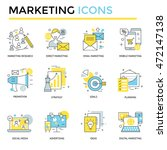 marketing icons  thin line ... | Shutterstock .eps vector #472147138