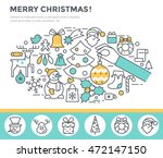 merry christmas greeting card ... | Shutterstock .eps vector #472147150