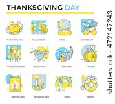 Thanksgiving Day Icons  Thin...