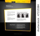 web site design template ... | Shutterstock .eps vector #47215384