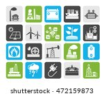 silhouette electricity and... | Shutterstock .eps vector #472159873