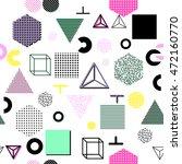 trendy geometric elements... | Shutterstock .eps vector #472160770