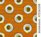 vector seamless pattern. cups... | Shutterstock .eps vector #472161100
