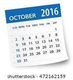October 2016 Calendar Leaf  ...