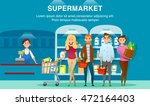 smiling people shopping in... | Shutterstock .eps vector #472164403