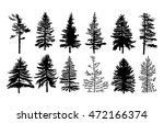 vector set silhouette of...
