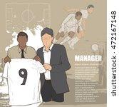 illustration of manager soccer. ... | Shutterstock .eps vector #472167148