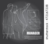 illustration of manager soccer. ... | Shutterstock .eps vector #472167238