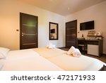 modern beautiful hotel bedroom... | Shutterstock . vector #472171933