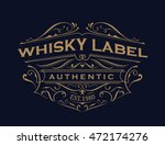 whiskey label antique... | Shutterstock .eps vector #472174276
