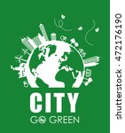 eco concept with icon design ... | Shutterstock .eps vector #472176190