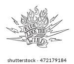 vintage old school biker tattoo   Shutterstock .eps vector #472179184