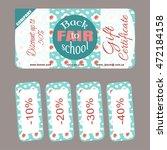 certificate with children's... | Shutterstock .eps vector #472184158