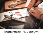 leather handbag craftsman at... | Shutterstock . vector #472185094
