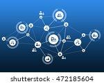social media communication | Shutterstock . vector #472185604