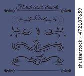 set of floral elements. vector... | Shutterstock .eps vector #472187659