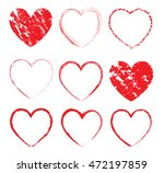 set of grunge hearts.abstract... | Shutterstock .eps vector #472197859