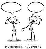 communication leads to solution ... | Shutterstock . vector #472198543