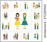 family icon set | Shutterstock .eps vector #472204564