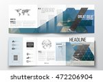 set of tri fold brochures ... | Shutterstock .eps vector #472206904