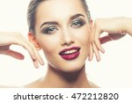 beautiful face of young... | Shutterstock . vector #472212820