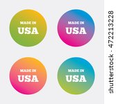 made in the usa icon. export... | Shutterstock .eps vector #472213228