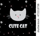 vector illustrations. cute cat... | Shutterstock .eps vector #472213738