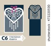 layout congratulatory envelope... | Shutterstock .eps vector #472220530