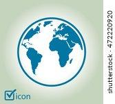 globe icon. | Shutterstock .eps vector #472220920