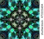 abstract decorative multicolor... | Shutterstock . vector #472221604
