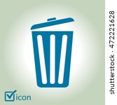 trash can icon  vector eps10... | Shutterstock .eps vector #472221628