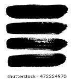set of brush strokes | Shutterstock .eps vector #472224970